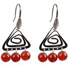 红玛瑙时尚耳环