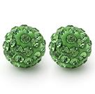 果绿色钻球耳环 耳钉款