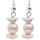天然白珍珠再生珍珠耳环