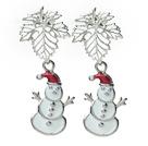 圣诞节款 圣诞雪人耳环