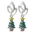 圣诞节款 圣诞树耳环