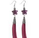 星形紫水晶耳环 流苏款