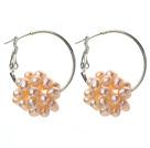 粉色珍珠耳环