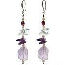 珍珠 异形紫水晶耳环