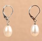 白珍珠耳环 配刀扣
