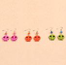 松石骷髅耳环(4对一组颜色随机)
