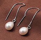 925银珍珠耳线款