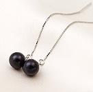 925AAA级黑珍珠耳线款