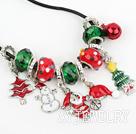 时尚圣诞节吊坠项链