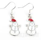 圣诞小雪人耳环