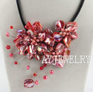 红色贝壳花项链