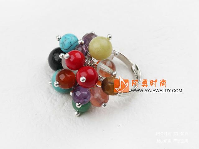 水晶杂石戒指