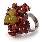 糖果玉 红石手工戒指 圈口可调节