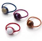 手工编织戒指  亚马逊石虎眼石玛瑙砗磲戒指 四件装