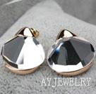 仿宝石镀金镶钻防过敏耳环