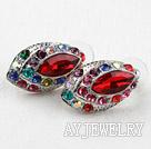 时尚仿宝石镶钻耳环