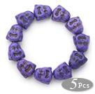 紫色松石佛头手链(五个)