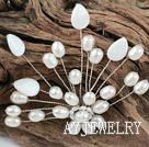白珍珠贝壳胸针