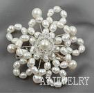 珍珠水晶胸针头饰饰品