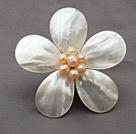 贝壳花 珍珠胸针