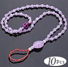 紫色亚克力 松石 人造水晶脚链 5元一条 10条一组