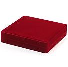 红色绒布盒子 高档首饰盒