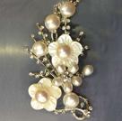 天然白珍珠时尚胸针