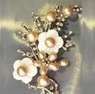 天然粉珍珠时尚胸针
