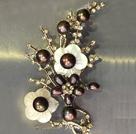 天然黑珍珠时尚胸针