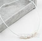 白珍珠皮绳项链