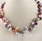 混色珍珠项链