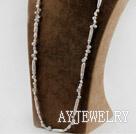 天然白色琵琶珍珠项链毛衣链