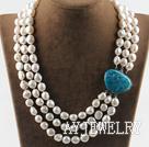 三排巴洛克珍珠项链