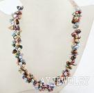 彩色再生珍珠项链