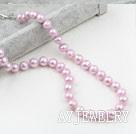 9-10mm淡紫珍珠项链