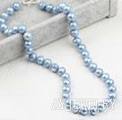 9-10mm淡蓝珍珠项链