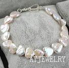 心形再生珍珠手链(925银扣)