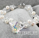 奥地利水晶珍珠手链