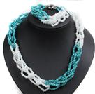 白色 绿色玉料水晶项链 手链 套链
