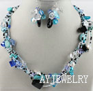 珍珠水晶松石套链
