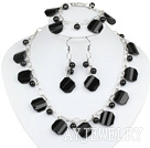 黑水晶黑玛瑙套链