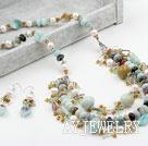 珍珠水晶亚马逊套链