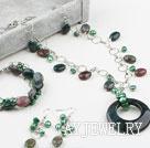 印度玛瑙珍珠套链