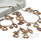 棕色贝壳套链