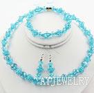 湖蓝色水晶套链