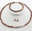 棕色珍珠套链