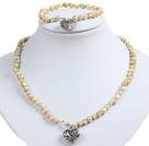 复古彩贝壳项链耳环套链