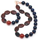 蓝玛瑙 金色天鹅石 原色玛瑙手链 项链 套链