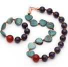 龙血石 紫水晶 红玛瑙项链 手链 套链 配合金饰品