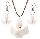 陶瓷天使项链 耳环 套链